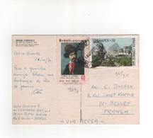 Timbres Yvert N° 945 , 957 , Sur CP, Carte Postale , Postcard Du 26/10/1971 Pour La France - Brasile