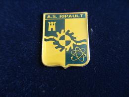 Pin's AS Association Sportive RIPAULT MONTS,CEA Commissariat à L'Energie Atomique,Indre Et Loire,époxy - Altri
