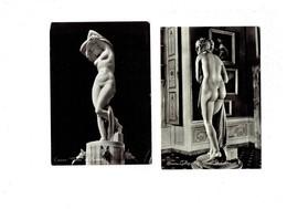 LOT 2 CPM - Statue Femme Nue - FIRENZE A Canova Venere - CARRARA Del Buttini - Sculture