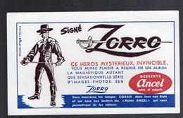 Buvard ZORRO Offert Par ANCEL (PPP8845) - Buvards, Protège-cahiers Illustrés
