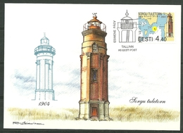 2004 Estonia Max.Card First Day Cancel - P1099 - Lighthouses