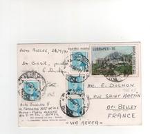 Timbres Yvert N° 842 X 4 , 945  , Sur CP, Carte Postale , Postcard Du 26/09/1971 Pour La France - Brasilien