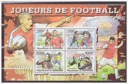0582 Burundi 2011 Voetbal Soccer Ronaldo Messi Kaka Neuer S/S MNH - Voetbal