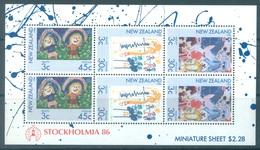 NZ - MNH/** - 1986 - STOCKHOLMIA OVERPRINT - SG MS1403 - Lot 17169 - RARE DISTRIBUTED ONLY AT THE EXHIBITION - Blokken & Velletjes