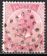 BE   20Aa    Obl   ---   Belle Nuance  --  LP 217 Liège  --  Dent. 15 - 1865-1866 Linksprofil
