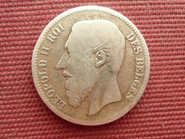 BELGIQUE Monnaie De 2 Frs 1866 - 1865-1909: Leopoldo II