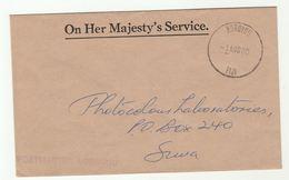 1980 FIJI OHMS KOROVOU Postmaster COVER - Fiji (1970-...)