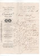 P39: 1889 Lettre COIGNET & Cie Fabrique De Produits Chimiques Colle Engrais Phosphate Phosphore... - 1800 – 1899