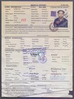 SAUDI ARABIA 2008, Medical Health Certificate/Report, 30 Rials Attestation Revenue Stamp Affixed, Issued From Karachi - Saudi Arabia