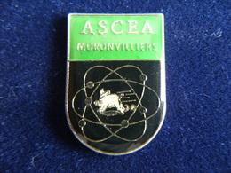 Pin's AS CEA MORONVILLIERS (PONFAVERGER 51), Commissariat à L'Energie Atomique,Sport,51 Marne,Epoxy - Altri