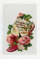 Découpis . CHOCOLAT POULAIN . Chaussure, Fleurs, ROSE . Shoe . Flowers - Flowers
