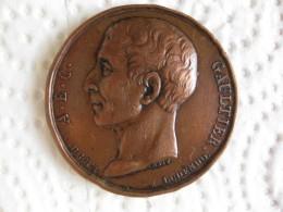 Medaille 1818  L'abbé Gaultier , Précurseur De L'école Mutuelle. Par Petit - France