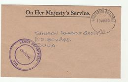 1980 FIJI LANDS DEPARTMENT OFFICIAL  Paid OHMS  Government Buildings COVER - Fiji (1970-...)