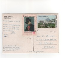 Timbres Yvert N° 945 , 957 , Sur CP, Carte Postale , Postcard Du 04/10/1971 Pour La France - Brazil