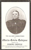 DP.MARIA CATRYSSE ° COUCKELAERE 1843 - + 1916 - Religion & Esotérisme