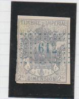 """Timbre Fiscal De Dimension, Type """"Manteau Impérial"""" - Fiscales"""