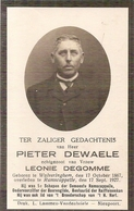 DP. PIETER DEWAELE ° WULVERINGHEM 1867 -+ RAMSCAPPELLE 1927 -1e SCHEPEN RAMSCAPPELLE - Godsdienst & Esoterisme