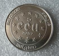 Belgie, 5 Ecu 1987, Zilver .833, Karel V - 12. Ecus