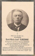 DP. KAREL FLORIZOONE ° WULPEN 1873 -+ LEUVEN 1927 - GEWEZEN BURGMEESTER SCHOORE - Godsdienst & Esoterisme