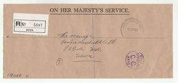 1979 FIJI OHMS REGISTERED COVER Official C.C. PAID - Fiji (1970-...)