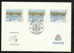 Epreuve Sur Carte Premier Jour 20ème Anniversaire  Accord Ramoge Monaco 14/5/1996 N° 2038 Italie 2167 Et France 3003  TB - Emissions Communes