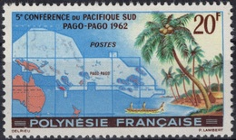 POLYNESIE FRANCAISE Poste 17 ** MNH Conférence Pacifique Sud PAgo-PAho 1952  (CV 22,70 €) - Polinesia Francese