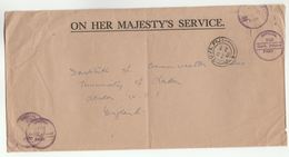 1980 FIJI  GOVERNMENT PRINTER To INSTITUTE OF COMMONWEALTH AFFAIRS GB Official Paid OHMS - Fiji (1970-...)