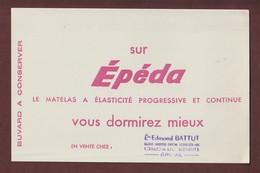 BUVARD --  EPEDA - MATELAS - Ets. BATTUT à EPINAL. 88 - 2 Scannes. - Buvards, Protège-cahiers Illustrés
