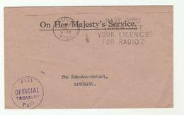 1980 FIJI TREASURY To Sub Accountant Savusavu SLOGAN Pmk LICENCE YOUR RADIO Cover Ohms Official Paid - Fiji (1970-...)