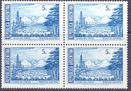 1959. Argentina, Mich.703, Regions Of Argentina, 4v In Block,  Mint/** - Argentina