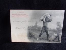 Carte Fantaisie . Moulin.Le Pain .Série Bergeret .N°3 Avant 1904. Voir 2 Scans . - Postcards