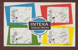 BUVARD --  INTEXA - TOUS LES TRICOTS  - 2 Scannes. - Textile & Clothing