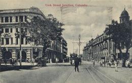 301 - 1929 Sri Lanka Colombo York Street Junction - TRAVELLED - Sri Lanka (Ceylon)
