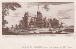 CPA L'Eglise De Boulogne, D'apres Une Gravure Du XVIIe Siècle  (pk47518) - Boulogne Sur Mer