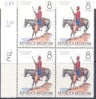 1966. Argentina, Mich.907, 4v In Block,  Mint/** - Argentina