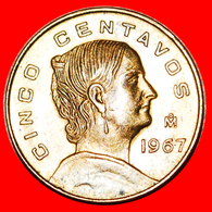# LA CORREGIDORA (1773-1829): MEXICO ★ 5 CENTAVOS 1967 MINT LUSTER! LOW START ★ NO RESERVE! - Mexico