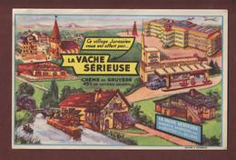 BUVARD -- LA VACHE SERIEUSE - CREME DE GRUYERE  - 2 Scannes. - Dairy