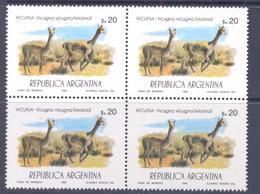 1984. Argentina, Mich.1707, Fauna, Animals, 4v In Block,  Mint/** - Argentina