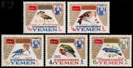 ~~~ Yemen Kingdom 1965 - Fauna Birds - Mi. 148/152  ** MNH OG - CV 20 Euro ~~~ - Yemen