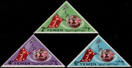 ~~~ Yemen Kingdom 1965 - Space Triangles - Mi. 188A/190A  ** MNH OG  ~~~ - Yemen