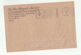 1980 FIJI REVENUE ACCOUNTANT P T DEpt  OHMS Cover SLOGAN Pmk  RED CROSS - Fiji (1970-...)