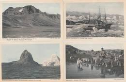 4 CPA:GRÖNLAND GROÉLAND ESQUIMEAU AVEC CHIENS,BÂTEAU DAMPFER HANS EGEDE IN  UMANAK DANS GLACE,ETC.. - Greenland
