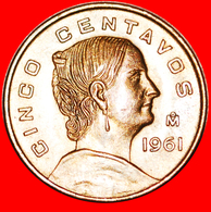 # LA CORREGIDORA (1773-1829): MEXICO ★ 5 CENTAVOS 1961 MINT LUSTER! LOW START ★ NO RESERVE! - Mexico