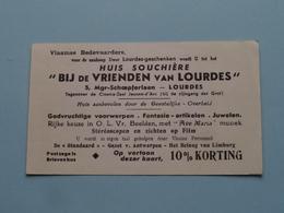 """"""" BIJ De VRIENDEN Van LOURDES """" Huis Souchière Lourdes ( Details - Zie Foto ) ! - Religion & Esotérisme"""