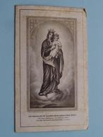 """Attestation ARCHICONFRERIE """" Notre-Dame Du Sacré-Coeur, Priez Pour Nous - Anno 1922 ( Details - Zie Foto ) ! - Godsdienst & Esoterisme"""