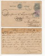 INLAND-POST-CARD-BRITISH-GUYANA-TO-AMSTERDAM-8 - America Centrale