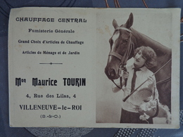 94 VILLENEUVE LE ROI 4 RUE DES LILAS  MAURICE TOURIN CHAUFFAGE CENTRAL CALENDRIER 1927 - Calendars