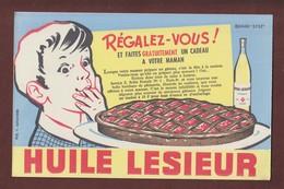 "BUVARD -- HUILE LESIEUR -- Pub.. Y. Alexandre - Buvard ""Efgé"" - 2 Scannes. - Food"