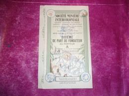 MINIERE INTERCOLONIALE (berberati , A.E.F.) - Shareholdings