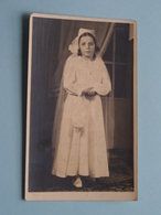 1ste H. Communie Van Simonne DE COENSEL I/d Dekanale Kerk Van WETTEREN Op 23 Maart 1948 ( Zie Foto's ) ! - Communion